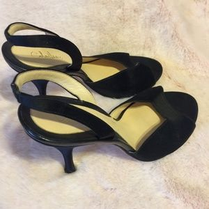 COLE HAAN Womens Size 9.5 Open Toe Leather heels